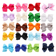 20 Pcs 3 &#34 Boutique Girls Hair Bows Hair Clips For Baby Girls Toddlers