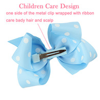 15 pcs 4 &#34 Boutique Girls Polka dots Hair Bows Hair Clips For Baby Girls Toddlers