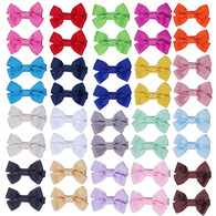 20 pair 2 inch Hair Bows for Girls Baby Toddlers Hair Clips Hair Bow Barrette