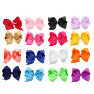 16 pcs 5  &#34 Boutique Girls Hair Bows Hair Clips For Baby Girls Toddlers