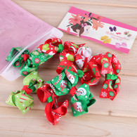 8 Pcs 3 Inch Baby Girls Christmas Gift Head Bow Hair Bow Clips Barrettes