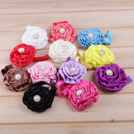 12Pcs Rose Flower Infant Hair Bows Hair band Headband For Newborn Baby Girls Toddlers