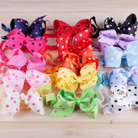 15 pcs 4 &#34 Polka dots Infant Hair Bows Hair band Headband For Newborn Baby Girls Toddlers …