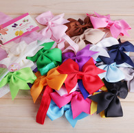 20Pcs 4&#34 Hair Bows Hair band Headband For Newborn Baby Girls Toddlers