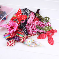 20 pairs Baby Girl Rabbit Ear Hair Rope Elastic Bunny Ear Hair Holder for Baby Girls Toddlers