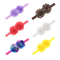 6 pcs 2.5&#34 2 Flower Hair band Headband For Newborn Baby Girls Toddlers