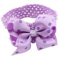 20 Pcs 4.5 &#34 Polka dots Infant Hair Bows Hair band Headband For Newborn Baby Girls Toddler