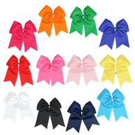 "12 Pcs 8"" Jumbo Cheer Bows Ponytail Holder Cheerleading Bows Hair Tie for Teens Girl"