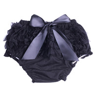 Black Ruffle Bloomer Diaper Cover for Baby Girls Toddlers