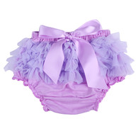 Purple Ruffle Bloomer Diaper Cover for Baby Girls Toddlers
