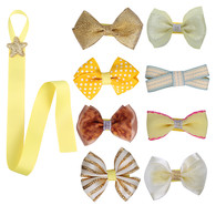 8 Pcs Baby Girl Hair Bow Hair Clips and 1 Pcs Bow Holder for Baby Girl Toddler Newborns