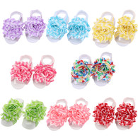 Baby Girls Toddlers Foot Flower Barefoot Sandals Feet Accessories 8 set …