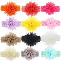Baby Girl Headbands Lace Flower Hair Bow Hair Band Toddlers 12 set