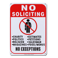 No Soliciting Sign Reflective Signs 10 X 7 Inch Rust Free 40 Mil Aluminum Sign
